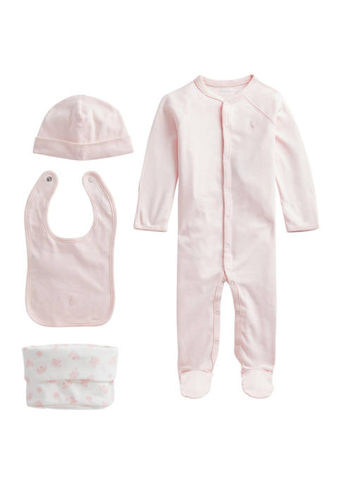 Ralph Lauren Childrenswear Baby 4-Piece Gift Set