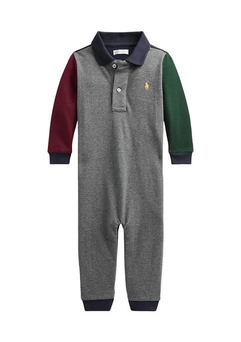 Ralph Lauren Childrenswear Baby Boys Color-Blocked Cotton Polo