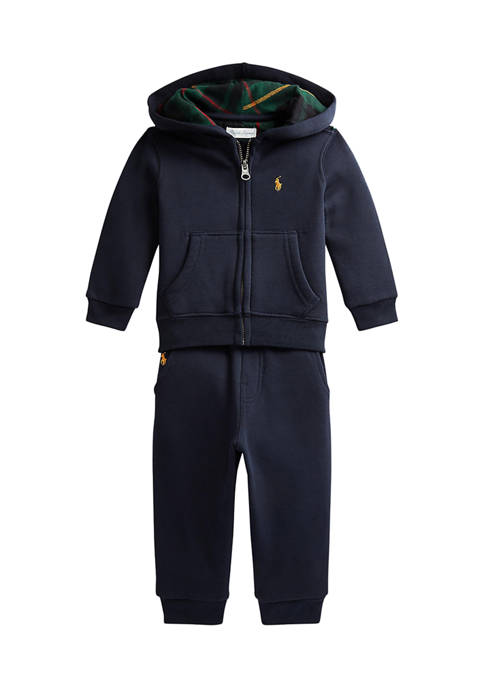 Ralph Lauren Childrenswear Baby Boys Fleece Hoodie &