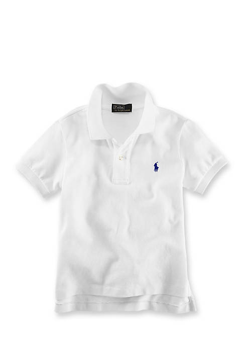 Ralph Lauren Childrenswear BSR POLO-TOPS-KNIT WHITE
