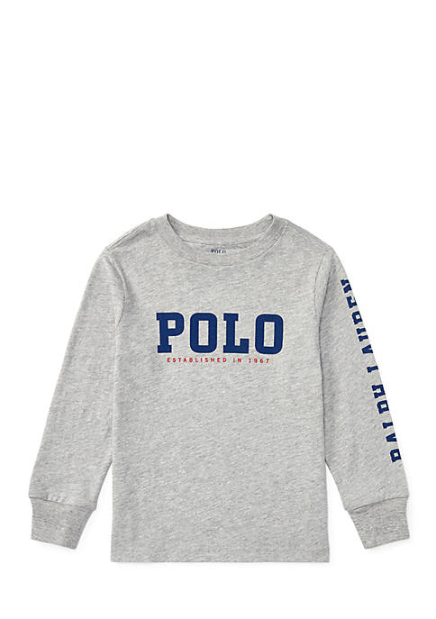 Ralph Lauren Childrenswear Slub Cotton Jersey Graphic Tee