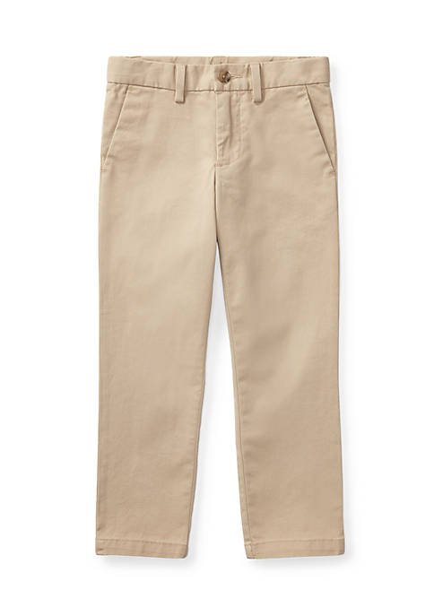 Belted Stretch Cotton Chino Pants Toddler Boys