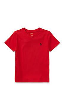 Cotton Jersey V-Neck T-Shirt Toddler Boys