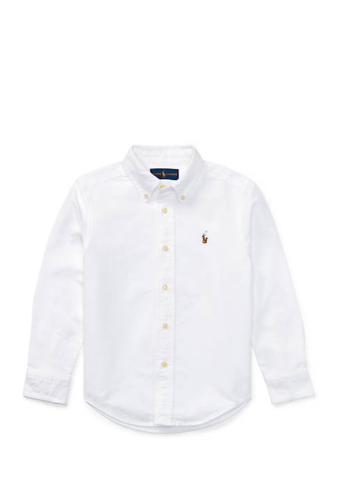 793039554 Ralph Lauren Childrenswear Cotton Oxford Sport Button Front Shirt ...