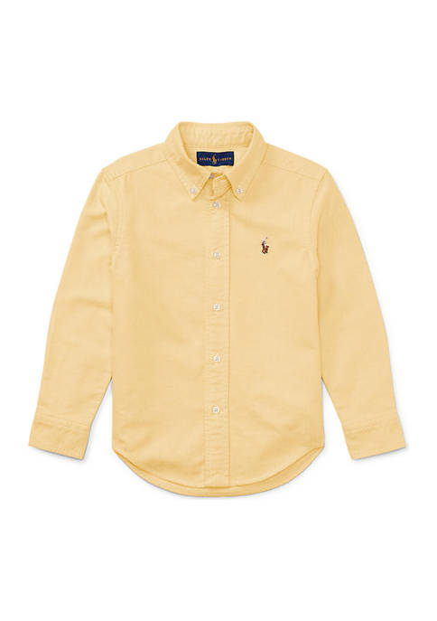 Ralph Lauren Childrenswear Cotton Oxford Sport Button Front