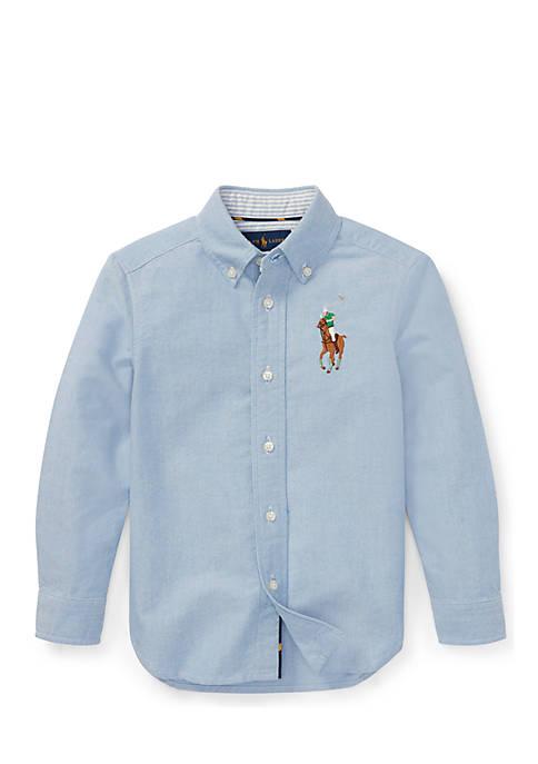 Ralph Lauren Childrenswear Big Pony Cotton Oxford Shirt