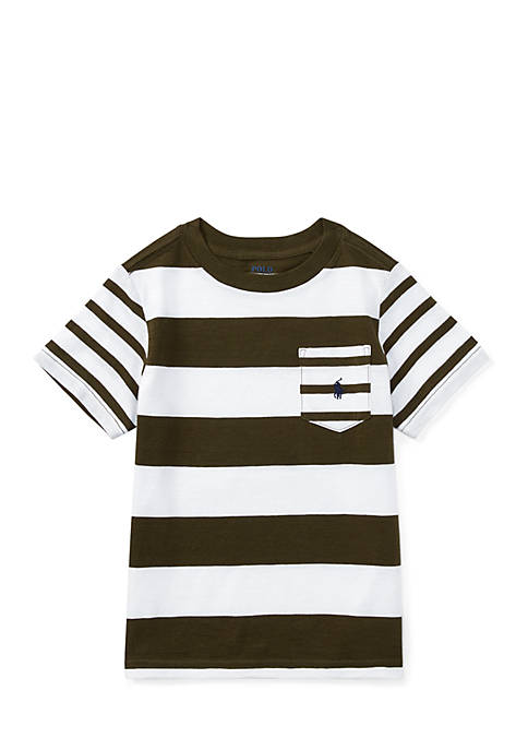 Ralph Lauren Childrenswear Boys Toddler Striped Cotton Jersey