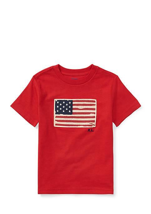 Ralph Lauren Childrenswear Flag Cotton Jersey T-Shirt Toddler