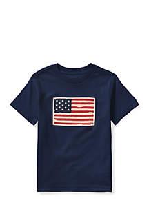 Flag Cotton Jersey T-Shirt Toddler Boys