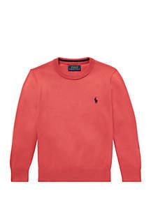 Toddler Boys Cotton Crew Neck Sweater
