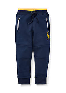 Toddler Boys Double-Knit Pull-On Pant