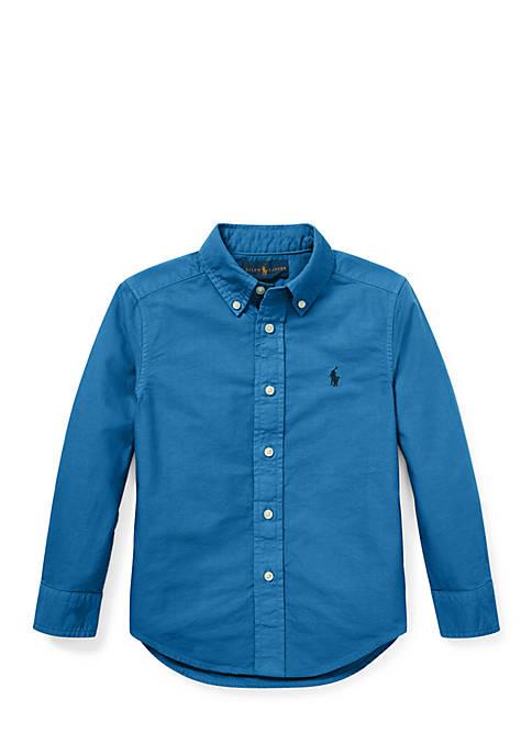 Ralph Lauren Childrenswear Toddler Boys Cotton Oxford Shirt