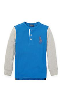 Toddler Boys Big Pony Cotton Henley Shirt