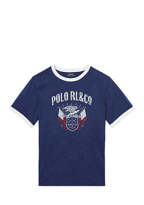Ralph Lauren Childrenswear Toddler Boys Jersey Graphic T-Shirt
