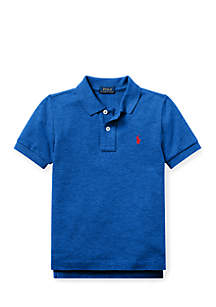 Toddler Boys Cotton Mesh Polo Shirt