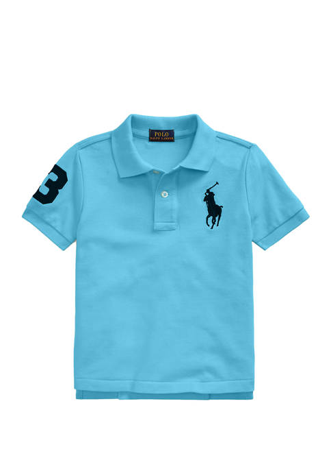Toddler Boys Cotton Mesh Polo Shirt