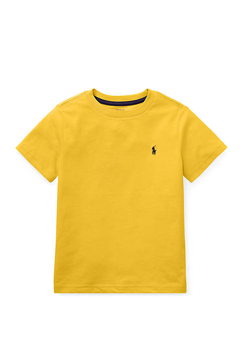 Toddler Boys Cotton Jersey Crew Neck T-Shirt