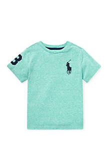 Toddler Boys Cotton Jersey Crew Neck T-Shirt