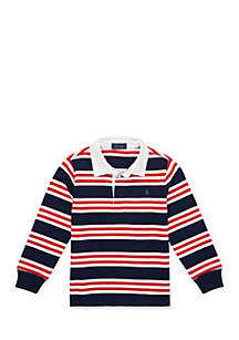 Toddler Boys Striped Cotton Jersey Rugby