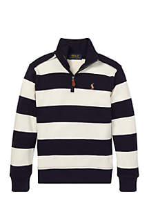 Toddler Boys Striped Cotton Pullover