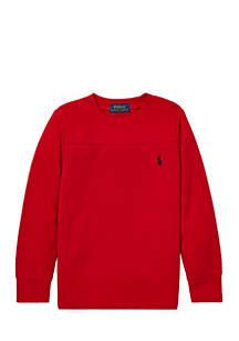 Toddler Boys Waffle-Knit Crewneck T-Shirt