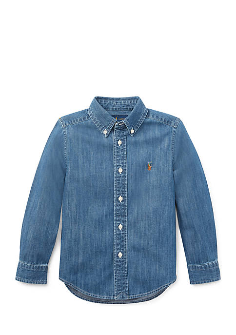 Ralph Lauren Childrenswear Toddler Boys Cotton Chambray Sport
