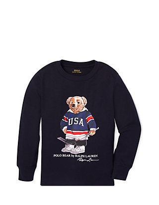 cf52318c Ralph Lauren Childrenswear Toddler Boys Hockey Bear Cotton T-Shirt ...