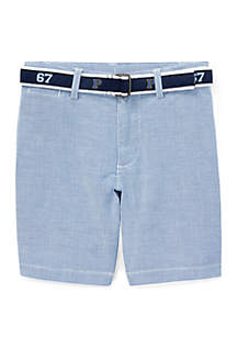 Ralph Lauren Childrenswear Toddler Boys Slim Fit Belted Stretch Shorts