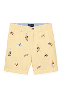 Ralph Lauren Childrenswear Toddler Boys Slim Fit Cotton Oxford Shorts