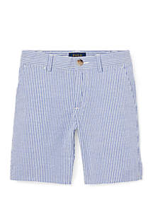 Ralph Lauren Childrenswear Toddler Boys Slim Stretch Seersucker Shorts