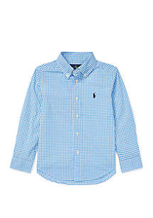 Ralph Lauren Childrenswear Toddler Boys Gingham Cotton Poplin Shirt