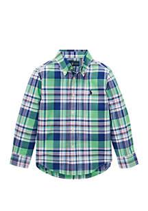 Ralph Lauren Childrenswear Toddler Boys Plaid Cotton Poplin Shirt