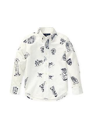 880f6d0d1 Ralph Lauren Childrenswear Toddler Boys Icon-Print Cotton Oxford ...