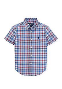 Ralph Lauren Childrenswear Toddler Boys Plaid Cotton Poplin Shirt