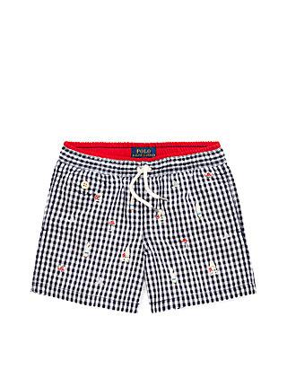 11f7c8bfe9 Ralph Lauren Childrenswear. Ralph Lauren Childrenswear Toddler Boys  Traveler Gingham Swim Trunks