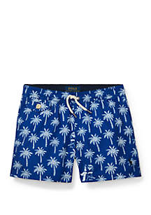 Ralph Lauren Childrenswear Toddler Boys Traveler Polo Bear Swim Trunks