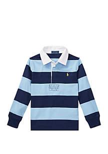 Ralph Lauren Childrenswear Toddler Boys Striped Cotton Rugby Shirt