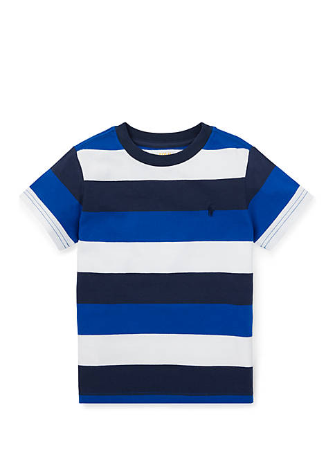 Toddler Boys Striped Cotton Jersey Tee