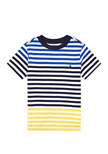 Ralph Lauren Childrenswear Toddler Boys Striped Cotton Jersey Tee