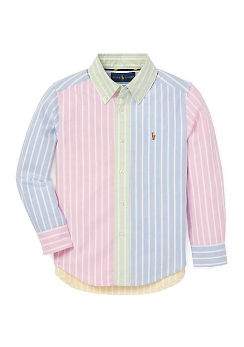 Toddler Boys Striped Cotton Fun Shirt