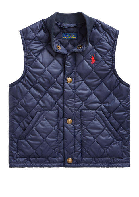 Toddler Boys Quilted Water-Repellent Vest
