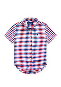 Ralph Lauren Childrenswear Toddler Boys Gingham Performance Poplin Shirt