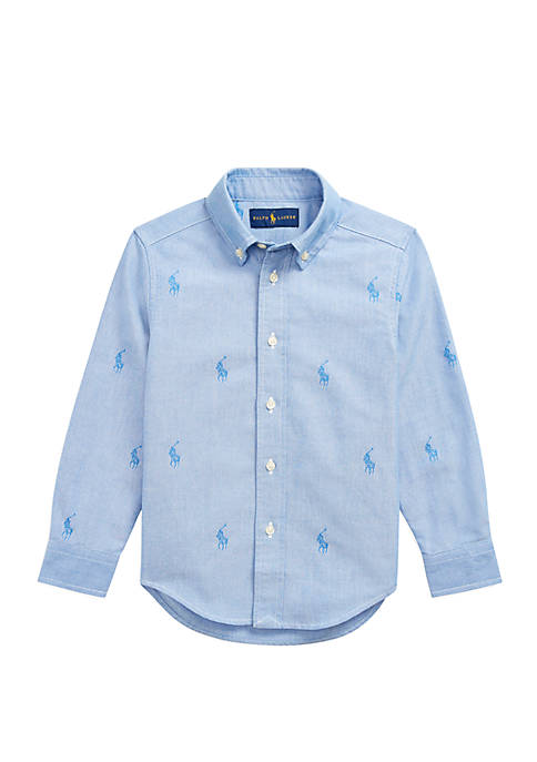 Ralph Lauren Childrenswear Toddler Boys Polo Pony Cotton