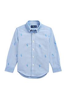 Ralph Lauren Childrenswear Toddler Boys Polo Pony Cotton Jacquard Shirt