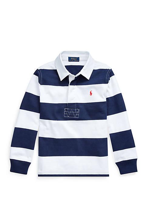 Ralph Lauren Childrenswear Toddler Boys Striped Cotton Jersey