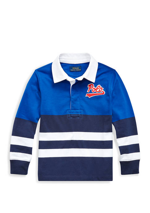 Toddler Boys Striped Cotton Jersey Rugby Shirt