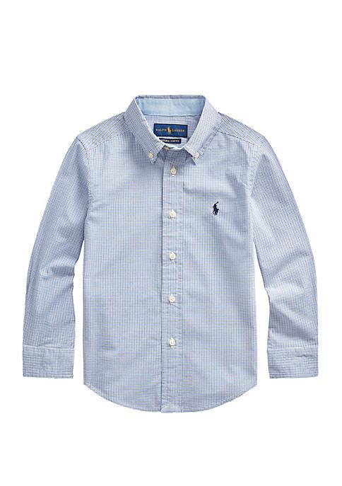Ralph Lauren Childrenswear Toddler Boys Plaid Stretch Cotton