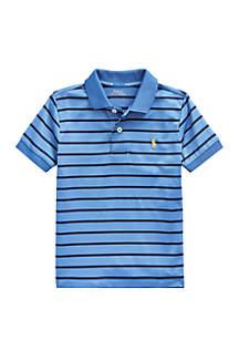 Ralph Lauren Childrenswear Toddler Boys Striped Performance Jersey Polo Shirt