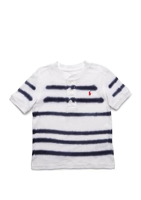 Toddler Boys Striped Slub Jersey Henley