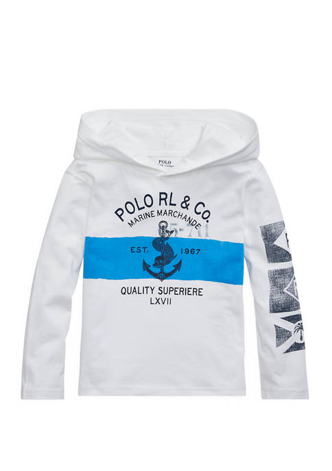 Ralph Lauren Childrenswear Toddler Boys Cotton Jersey Hooded